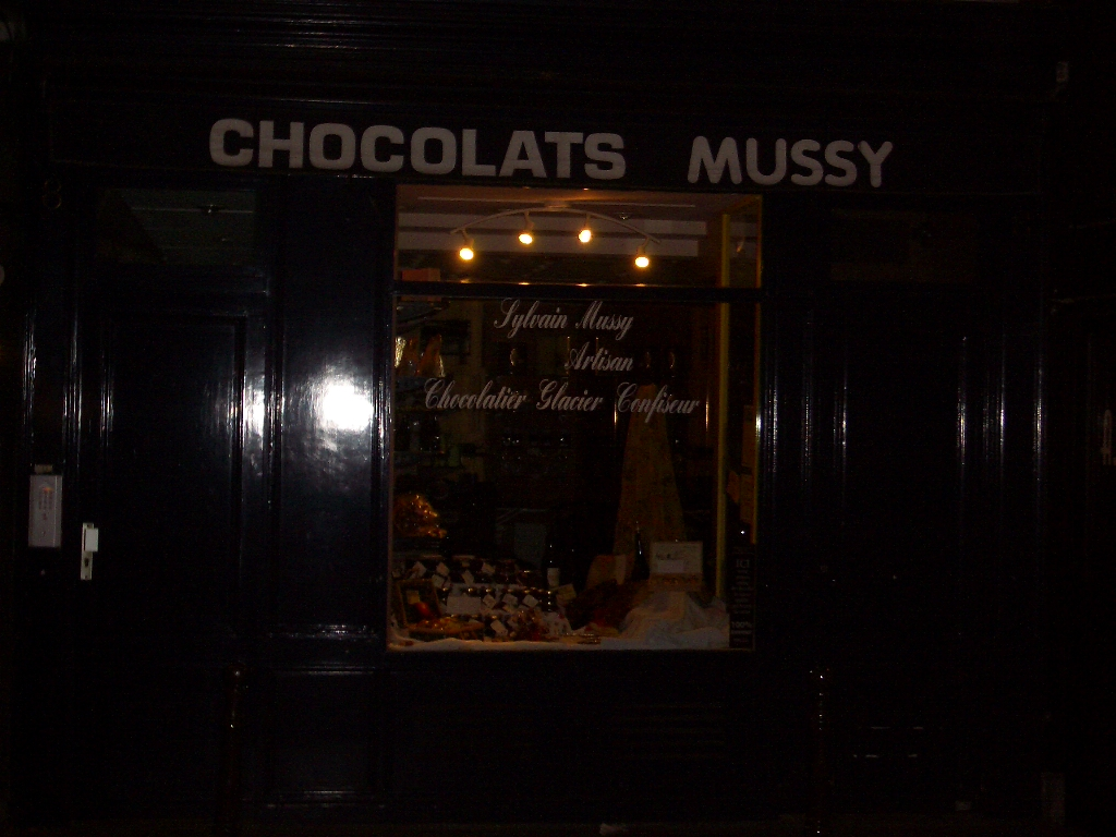 Paris, 2005 March - Chocolats Mussy
