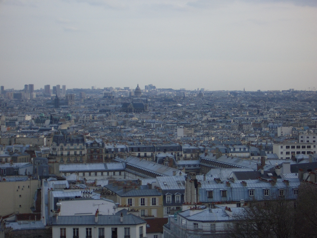 Paris, 2005 March - view from Sacre Coeur