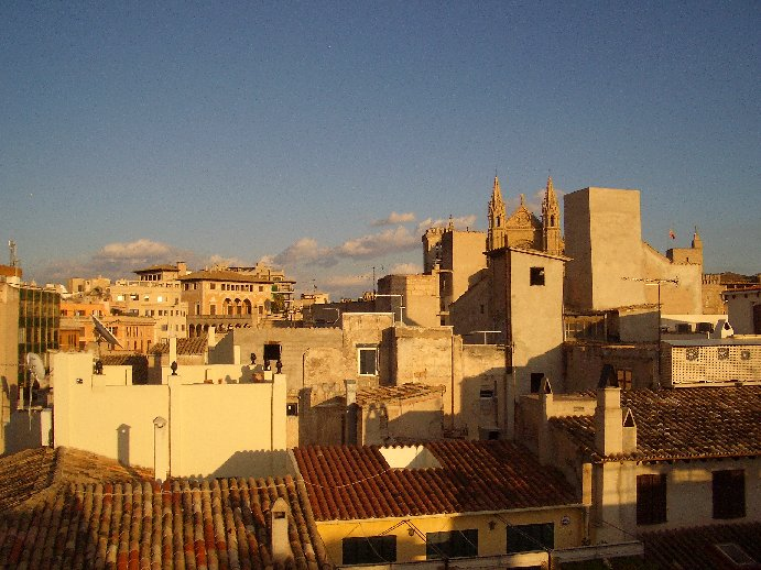 View of Palma Old Town from Puro Hotel Roof